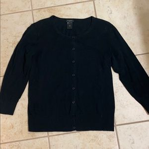 Black Ann Taylor Button up cardigan